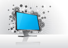Elegant monitor graphic Royalty Free Stock Photos