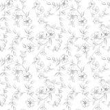 Elegant monochrome flowers fabric. Stock Images