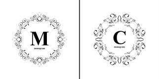 Elegant monogram design template. Royalty Free Stock Photography