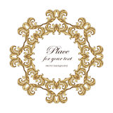 Elegant  monogram designs template with copy-space for text Royalty Free Stock Image