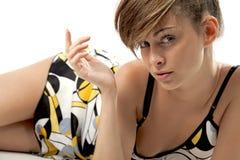 Elegant mooie jonge vrouw stock fotografie