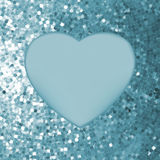 Elegant mosaic glowing heart background. Stock Image