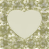 Elegant mosaic glowing heart background. EPS 8 Royalty Free Stock Images