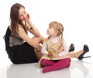 Elegant mother with daughter Royalty Free Stock Photos