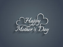 Elegant mother's day text design. Royalty Free Stock Photography