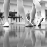 Elegant movements of Ballerina legs Royalty Free Stock Images