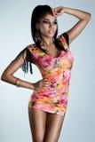 Elegant mulatto girl Stock Photos