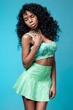 Elegant mulatto girl Royalty Free Stock Image