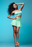 Elegant mulatto girl Stock Images