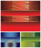 Elegant multicolored backgrounds set Stock Photography