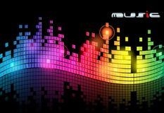 Elegant music background Royalty Free Stock Image