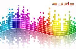 Elegant music background Stock Photography