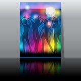 Elegant musikreklamblad Arkivfoto