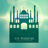 Elegant muslim eid festival card design background. Vector Stock Image