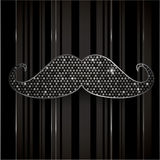 Elegant mustache background Stock Photography
