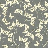 Elegant naadloos patroon met bloemblaadjes en vlinders Royalty-vrije Stock Fotografie
