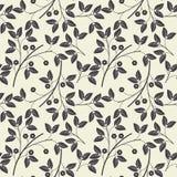 Elegant naadloos patroon met bloemen op ivoorachtergrond Stock Afbeeldingen