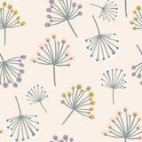 Elegant naadloos patroon met bloemtak in pastelkleuren Skandinavische stijlachtergrond Groot voor stof, textiel, wallp vector illustratie