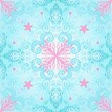 Elegant naadloos patroon met koraal Stock Foto