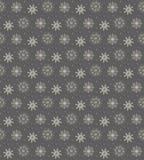 Elegant naadloos patroon van vele gouden en purpere sneeuwvlokken op D Royalty-vrije Stock Foto's