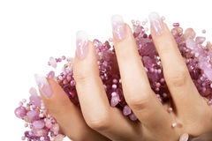 Elegant nail design Royalty Free Stock Photography