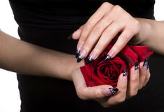 Elegant nail design Royalty Free Stock Photos