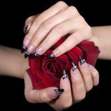 Elegant nail design royalty free stock images