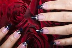Elegant nail design Stock Photography