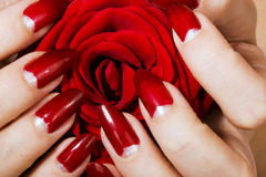 Elegant nail design stock photos