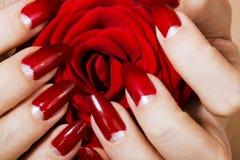 Elegant nail design Stock Photos