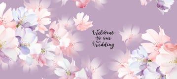 Elegant nam Elegante bloem toenam bloem toe vector illustratie