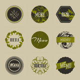 Elegant nature-themed vector badges in green Stock Image