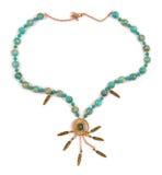 The elegant necklace isolated on white background Royalty Free Stock Photos