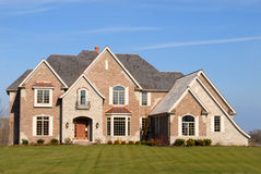 Elegant new home on a large lot Stock Image