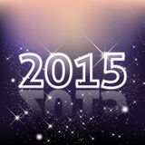 Elegant New Year 2015 background with stars and shines Royalty Free Stock Image