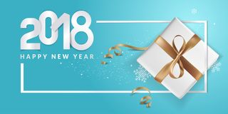 Elegant New Years greeting card. Vector illustration concept for greeting cards, web banner, flayer brochure, party invitation card Stock Photography