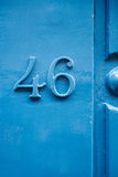 Elegant number on wall Royalty Free Stock Photos
