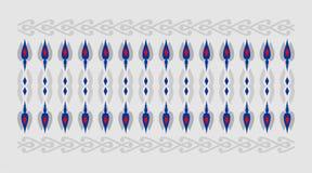 Elegant och dekorativ gräns av hinduisk och arabisk inspiration av olik röd och blå och grå bakgrund för färger, Royaltyfri Bild