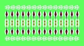 Elegant och dekorativ gräns av hinduisk och arabisk inspiration av olik vit och röd och grön bakgrund för färger, Royaltyfria Bilder