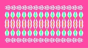 Elegant och dekorativ gräns av hinduisk och arabisk inspiration av olika färger Fotografering för Bildbyråer