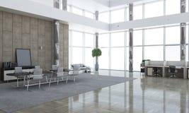Elegant office interior. Mixed media Stock Images