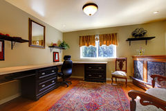 Elegant office room with antique furniture Royalty Free Stock Images