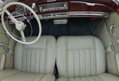 Elegant old car interior Royalty Free Stock Image