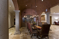 Elegant Old Fashioned Dining Room Stock Image