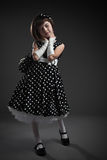 Elegant old-fashioned dressed little girl Royalty Free Stock Photo