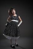 Elegant old-fashioned dressed little girl Stock Photo