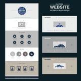 Elegant one page website design template Stock Images