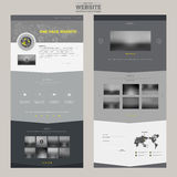 Elegant one page website design template Royalty Free Stock Photos