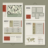 Elegant one page website template design Stock Photography