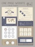 Elegant one page website template design Stock Photos